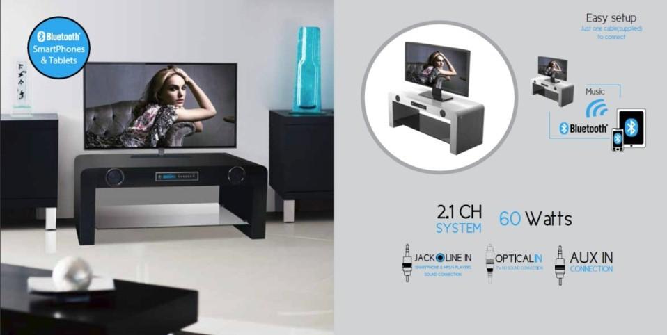 SoundVision SV-50 e SV-70: mobili per home theater con impianto audio ...