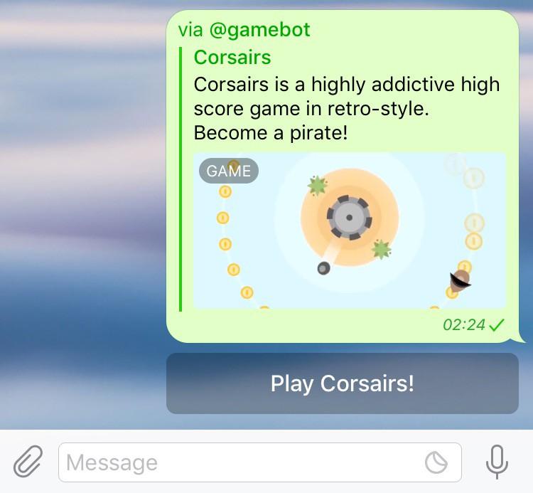 Telegram arrivano i giochi sulle chat