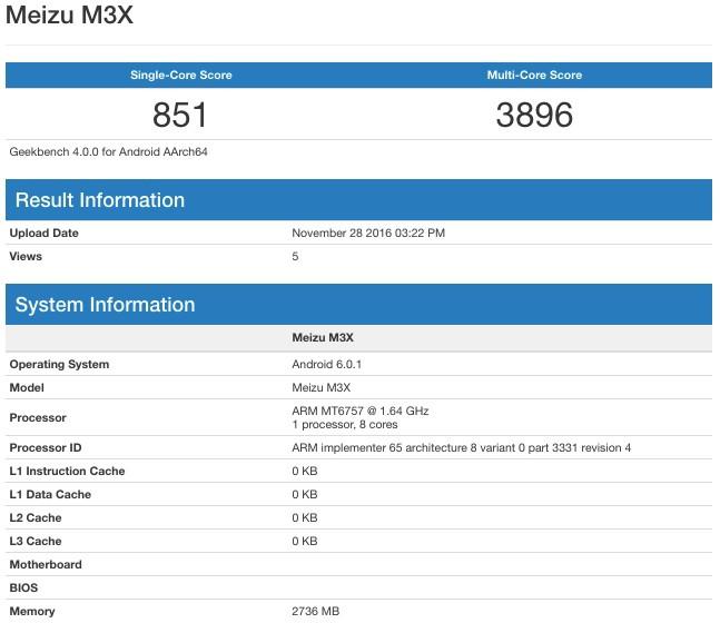 Meizu Pro 6 Plus e M3X sui benchmark: caratteristiche hardware