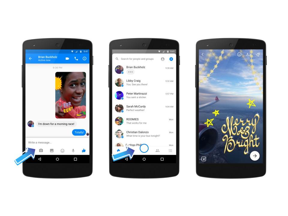Facebook Messenger, aggiunti tanti nuovi effetti alla fotocamera per Natale