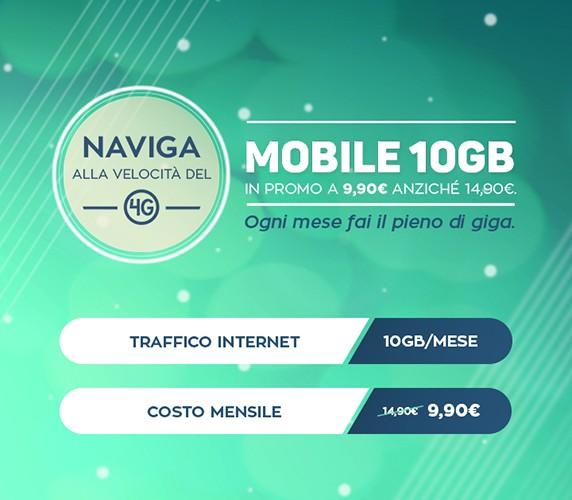 PosteMobile sconta l'opzione Internet Mobile 10GB a 9,90 euro/mese