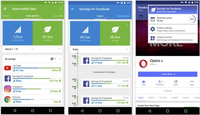 Opera Max 3.0 farà risparmiare traffico agli utenti Facebook