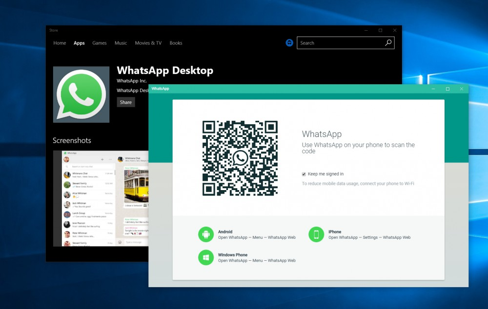 WhatsApp Desktop presto disponibile sul Windows Store?