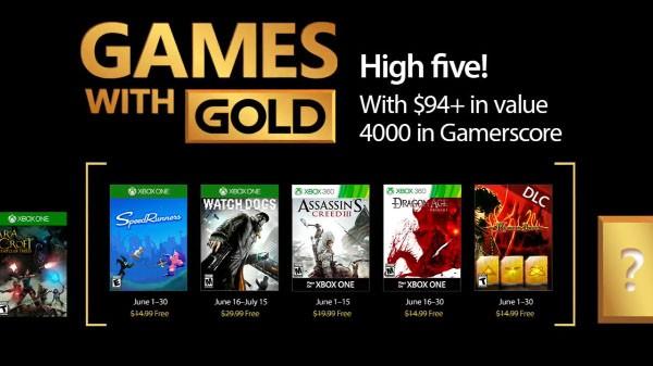 Games With Gold: annunciati i titoli gratuiti per il mese di giugno