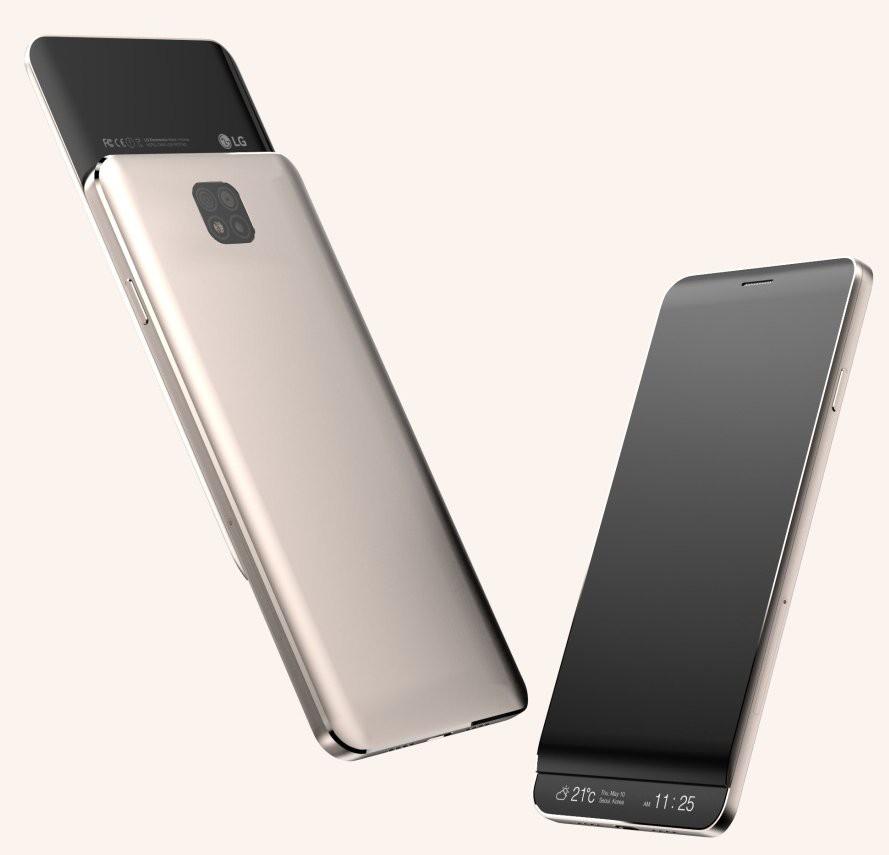 LG V30 display secondario a scorrimento?