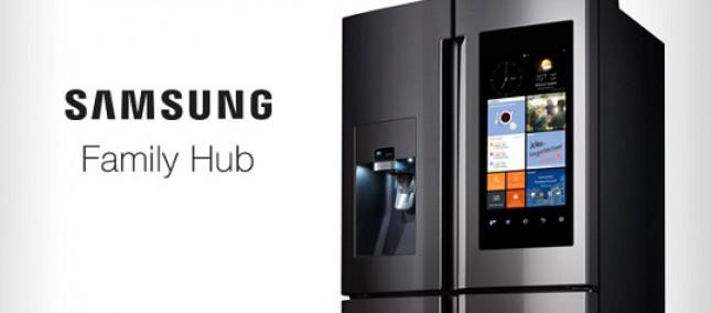 "Samsung rilancia Family Hub, frigorifero con Android e display da 21"""