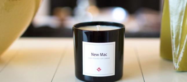 """Amate """"l'odore di nuovo"""" dei prodotti Apple appena scartati? La candela New Mac fa per voi"""
