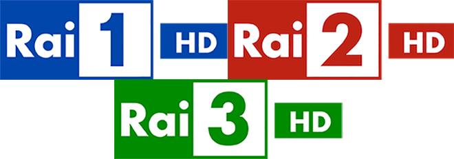 Rai 1, Rai 2 e Rai 3 in HD sul digitale terrestre dal 19 Settembre