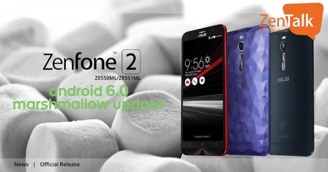 Asus Zenfone 2 (ZE551ML) riceve finalmente l'aggiornamento ad Android Marshmallow