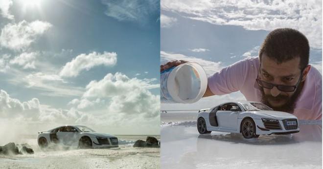 Come fotografare un'auto da 160 mila dollari usando un modellino da 40$