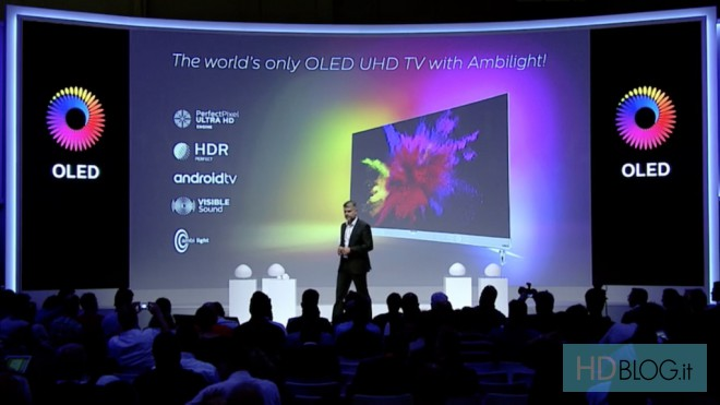 "Philips presenta l'Android TV OLED Ultra HD da 55"" con HDR e Ambilight (video)"