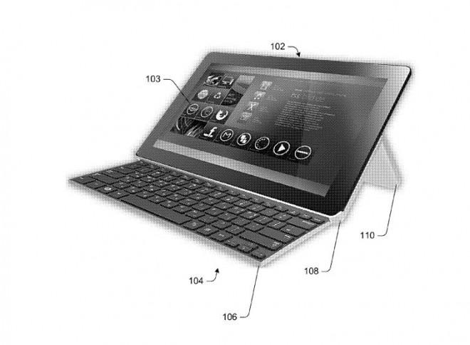 Microsoft brevetta un nuovo tipo di case/tastiera ripiegabile