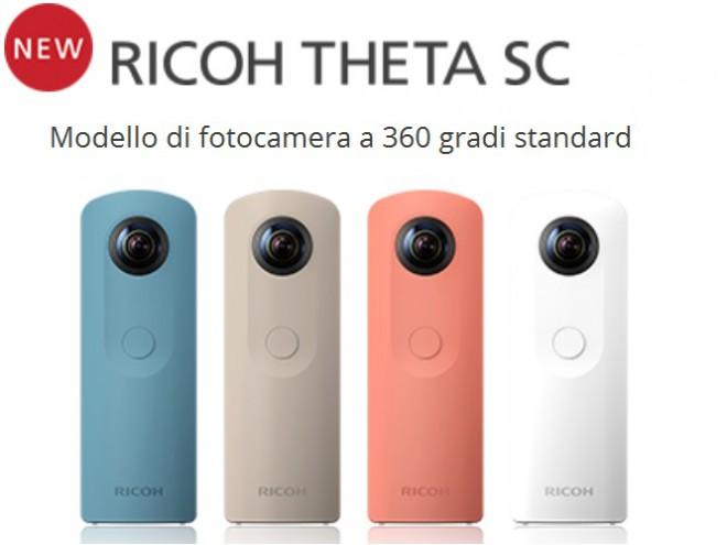 Ricoh Theta SC, la cam a 360° diventa più economica e colorata