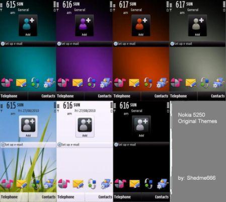 Symbian themes, arrivano i temi presenti sul Nokia 5250 ...