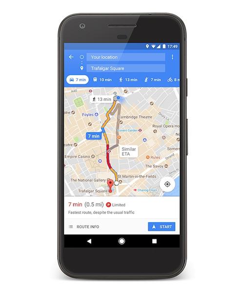 Google Maps informa sulla disponibilità di parcheggio a Milano e Roma