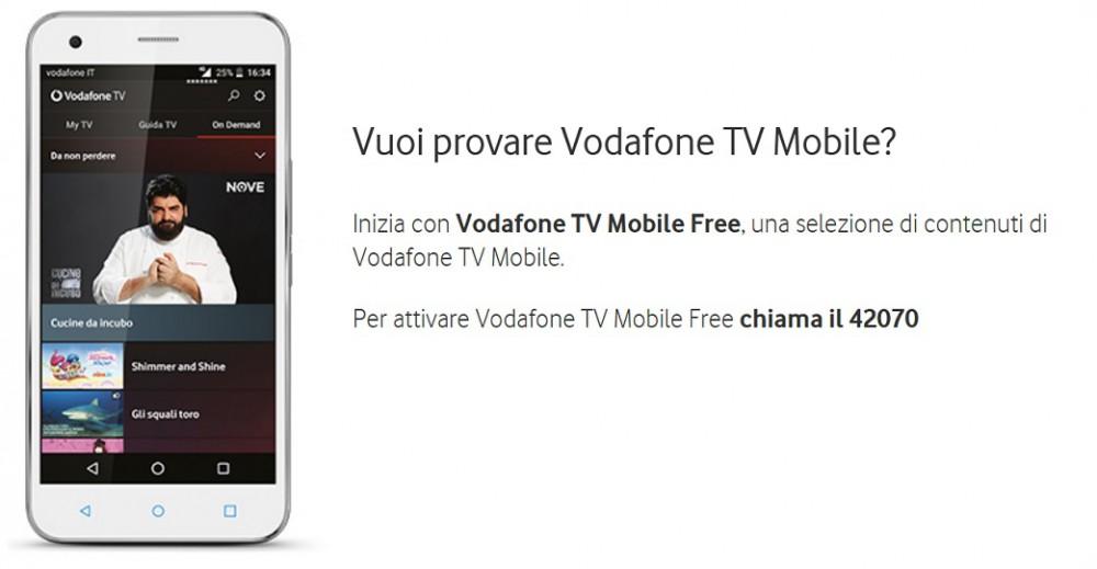 Vodafone fa provare gratuitamente TV Mobile, ecco come